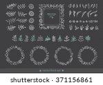 flowers  leaves  frames ... | Shutterstock .eps vector #371156861