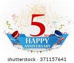 happy anniversary celebration... | Shutterstock .eps vector #371157641