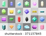 set of 24 diamonds   gemstone... | Shutterstock .eps vector #371157845