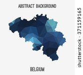 belgium in geometric polygonal... | Shutterstock .eps vector #371159165