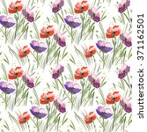 seamless pattern with wild... | Shutterstock .eps vector #371162501