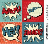 set of comic speech bubbles in... | Shutterstock .eps vector #371166419