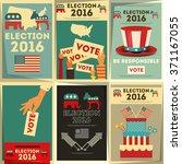 presidential election voting... | Shutterstock .eps vector #371167055