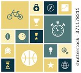 flat design icons for sport and ...