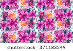 seamless texture with pink and... | Shutterstock . vector #371183249