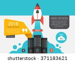 cloud storage in flat style ... | Shutterstock .eps vector #371183621