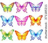 butterflies design | Shutterstock . vector #371185211
