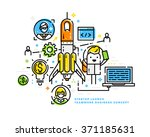 business project startup... | Shutterstock .eps vector #371185631