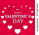 happy valentine's day card... | Shutterstock . vector #371187644