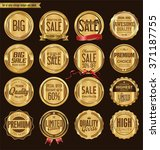 set of retro vintage golden... | Shutterstock .eps vector #371187755