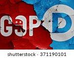 flag of gop and democrats... | Shutterstock . vector #371190101