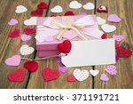 valentines day gift and small... | Shutterstock . vector #371191721