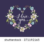 hand sketched  love you text as ... | Shutterstock .eps vector #371192165