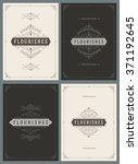 vintage ornament greeting cards ...   Shutterstock .eps vector #371192645
