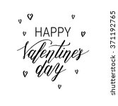 happy valentines day greeting... | Shutterstock .eps vector #371192765