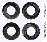 mobius strip. circular shape... | Shutterstock .eps vector #371196887