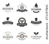 Stock vector vintage logos design templates set vector design elements logo elements logo symbols logo icons 371197841