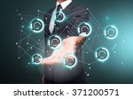 business hand illustration. | Shutterstock . vector #371200571