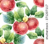 Seamless Pattern Of Red Apples...
