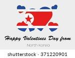 a valentines flag illustration