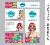 vector beauty salon card with...