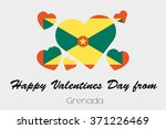 a valentines flag illustration... | Shutterstock .eps vector #371226469
