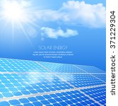 close up of solar battery ... | Shutterstock .eps vector #371229304
