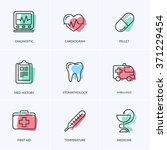 medical icons pack. medicine... | Shutterstock .eps vector #371229454