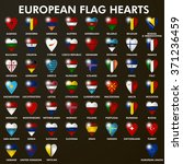 art european flag hearts set... | Shutterstock .eps vector #371236459