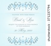 wedding invitation with flowers | Shutterstock .eps vector #371237794