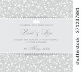 wedding invitation with flowers | Shutterstock .eps vector #371237881