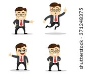 set of manager character in... | Shutterstock .eps vector #371248375
