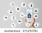 smart home automation concept... | Shutterstock . vector #371253781