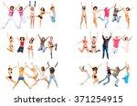 people celebrating united... | Shutterstock . vector #371254915