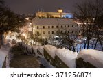 Center Of Lublin At Night. Old...