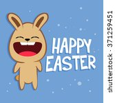 funny rabbit shouting happy... | Shutterstock .eps vector #371259451