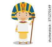 character from  egypt dressed... | Shutterstock .eps vector #371270149