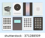 cute collection of templates... | Shutterstock .eps vector #371288509