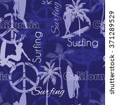 vector surfing california blue...   Shutterstock .eps vector #371289529