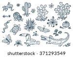 mexico vector set. mexican... | Shutterstock .eps vector #371293549