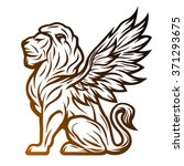 Mythological Lion Statue With...