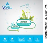save water vector concept... | Shutterstock .eps vector #371304295