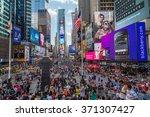 new york city  ny usa   circa...   Shutterstock . vector #371307427