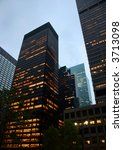 highrise buildings at dusk in... | Shutterstock . vector #3713098