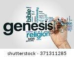 genesis word cloud | Shutterstock . vector #371311285