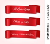 set of ribbon for a valentine's ... | Shutterstock .eps vector #371313529