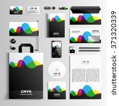 corporate identity template in... | Shutterstock .eps vector #371320339