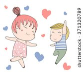 romantic concept. loving boy... | Shutterstock .eps vector #371320789