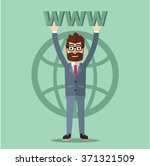 executive man holding www | Shutterstock .eps vector #371321509