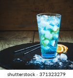 Blue Lagoon Cocktail With...